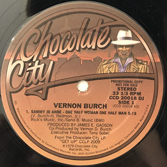 VERNON BURCH:SAMMY JO ANNE - ONE HALF WOMAN ONE HALF MAN(LABEL SIDE-A)