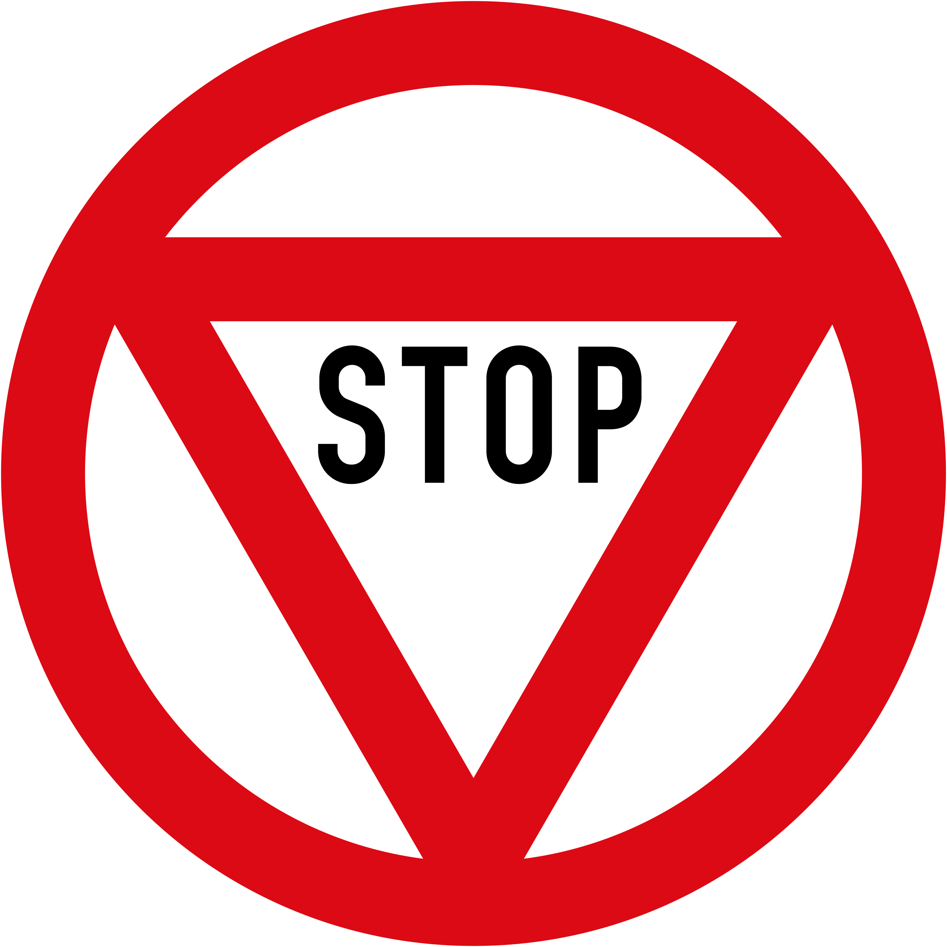 Vienna Convention stop sign B2b variant 1