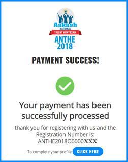 ANTHE Registration - Make Payment