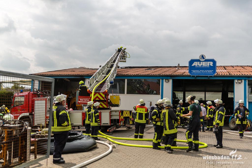 Werkstattbrand Lörzweiler 30.08.18