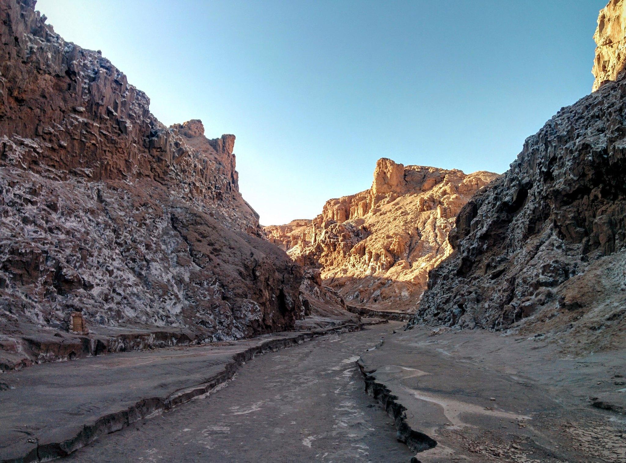 A steep sided valley near San Pedro