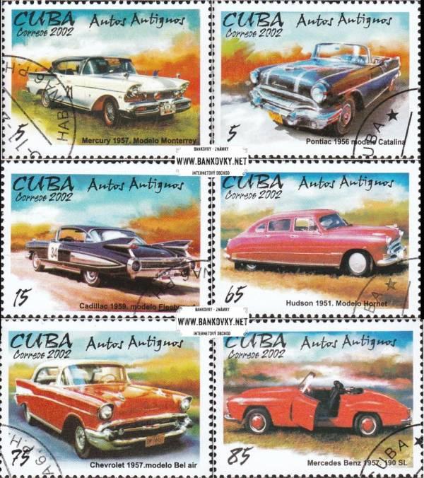 Známky Kuba 2002 Americké automobily, razítkovaná séria