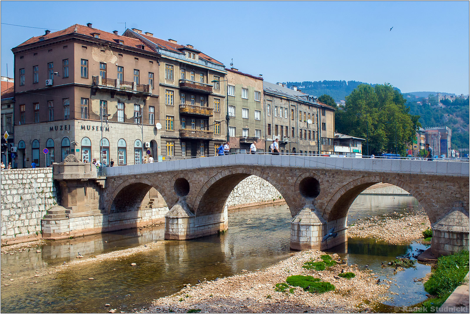 Most łaciński na rzece Milijacka