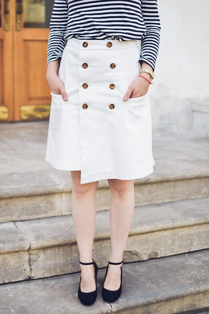 double button wrap skirt vikisews amelia юбка амели-14