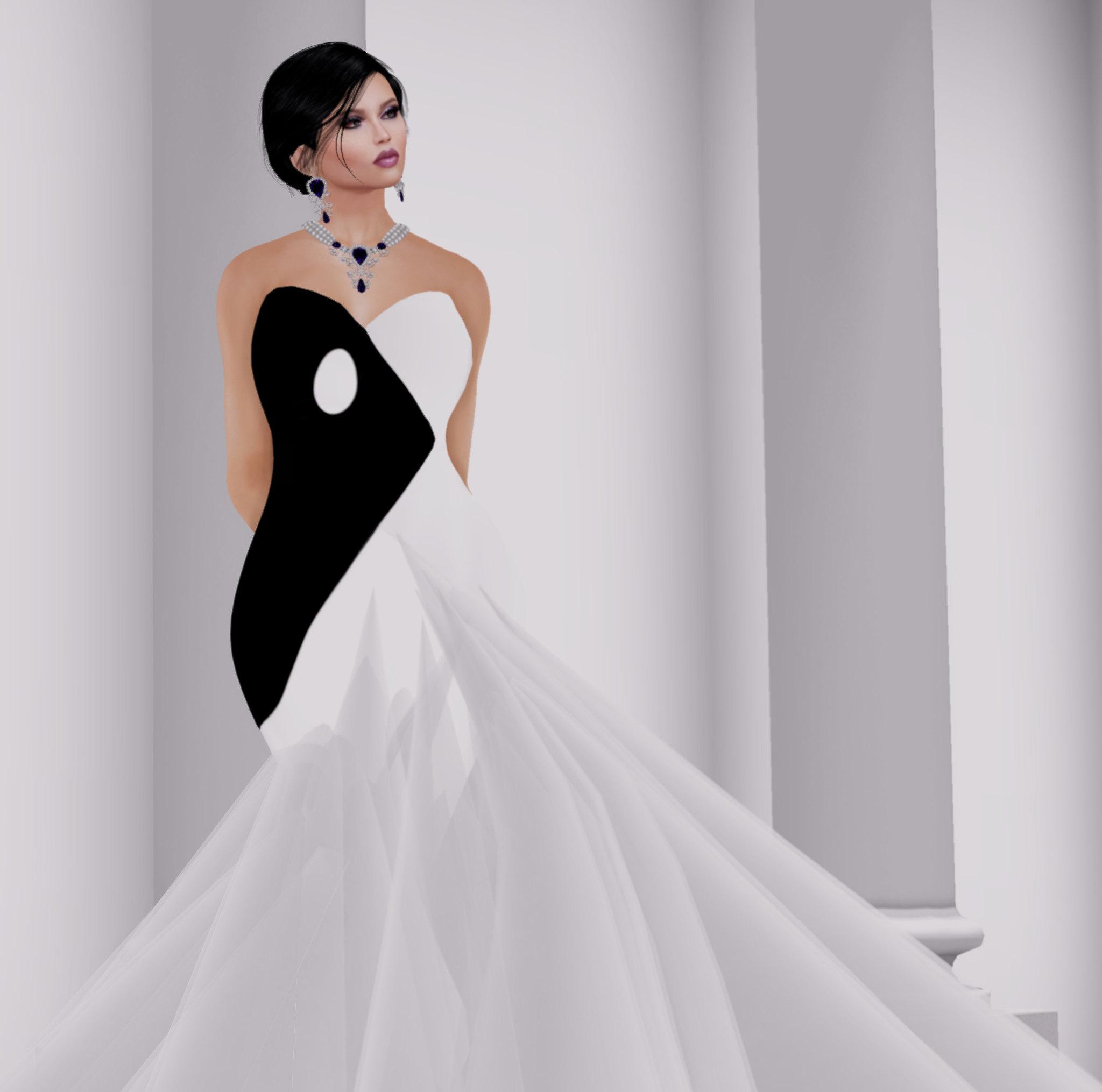 YinYang gown Sascha's Designs