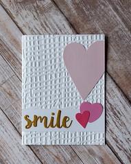 Smile heart card