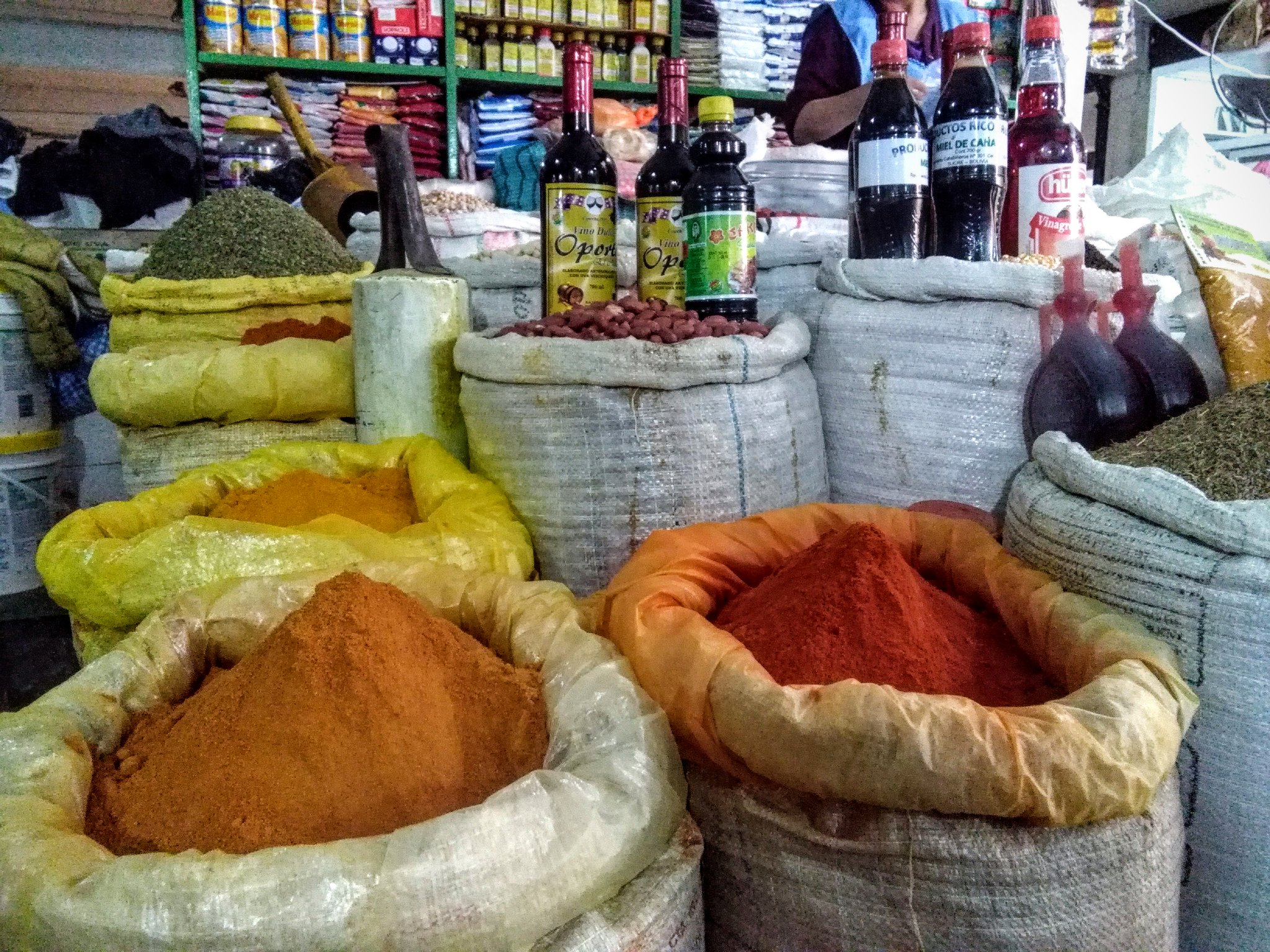 Spice stall in Sucre market