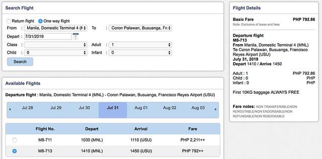 Manila to Coron SkyJet Airlines September Savings Spree