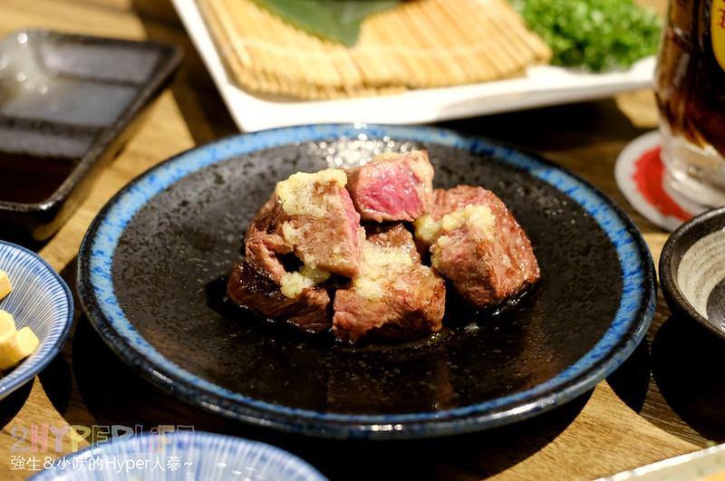 明炙道炭火燒肉|平日只開晚上的低調日式燒烤,高品質肉品和特色菜色讓人倍感喜歡,超厚伊比利豬和牛小排必吃哦~ @強生與小吠的Hyper人蔘~