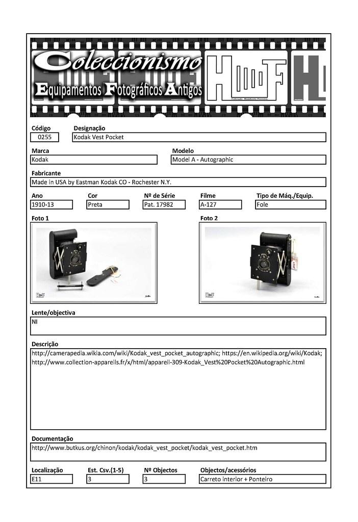 Inventariação da colecção_0255 Kodak Vest Pocket