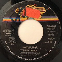 FIRST CHOICE:DOCTOR LOVE(LABEL SIDE-A)