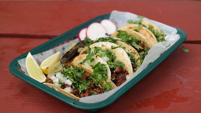 Al Pastor Tacos from Tacos Villanueva in Des Moines, Iowa