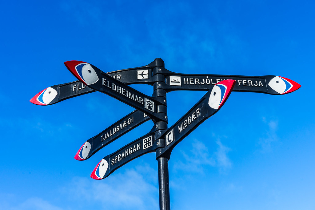 Westman Islands Signpost