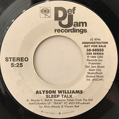 ALYSON WILLIAMS:SLEEP TALK(LABEL SIDE-B)