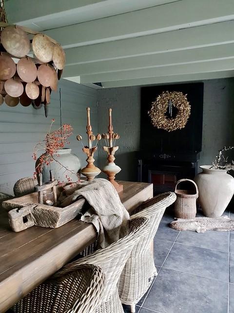 Veranda pinakels houten bak kruik