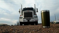 Good Morning! A full cup of coffee and a rumbling Kenworth, right here in Cheyenne, Wyoming!