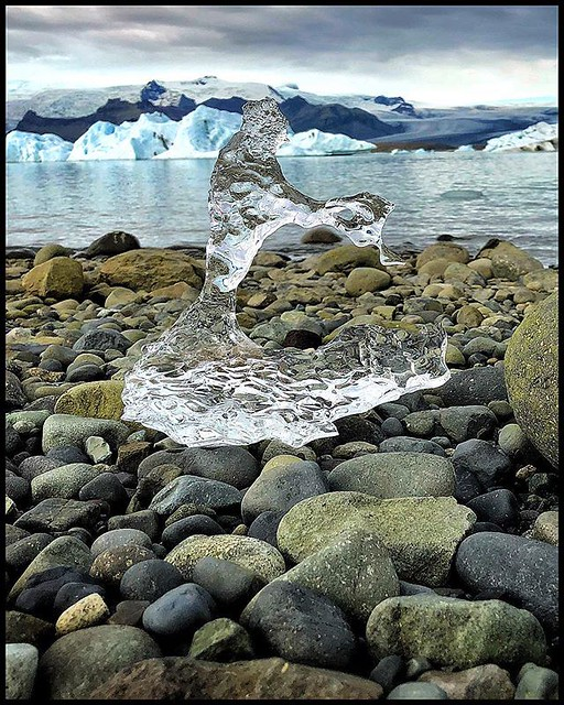 Sculptural glacial ice on the shores of Jökulsárlón Lagoon.  #Iceland #ice #Jökulsárlón #glacierlagoon #glacier #sculpture #sculptural