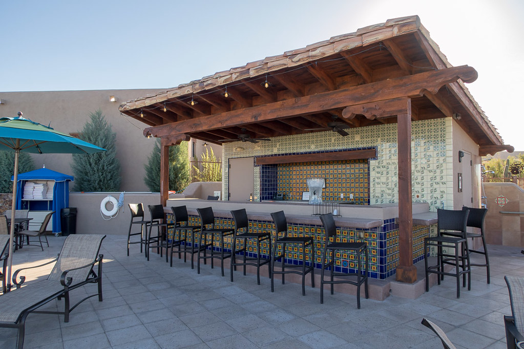 Bars and outdoor kitchens at hotel