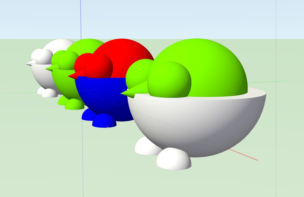 CAD models created with spheres and cones