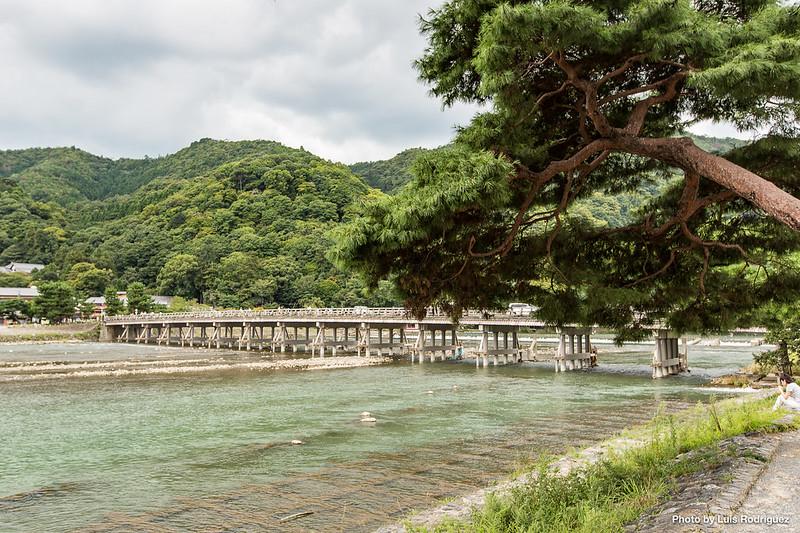 Puente Togetsukyo de Arashiyama en Kioto