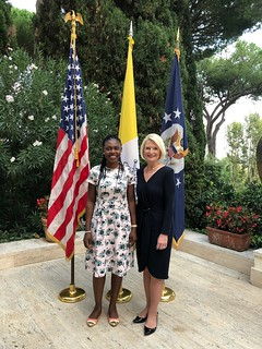 Reception hosted by Ambassador Gingrich in honor of 2018 TIP Report Hero Blessing Okoedion