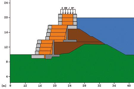 Рис. 4. Стабилизация потенциально опасных участков бортов хвостохранилища, рудник Изкаикруз, Перу, 2005