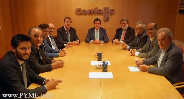 El presidente de CEPYME, Antonio Garamendi, se reúne con el Comité Ejecutivo de CONFAES