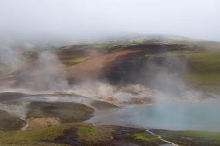 20180728 - Deuxième Jour - Pluie, brouillard et les Vestur Reykjadalir