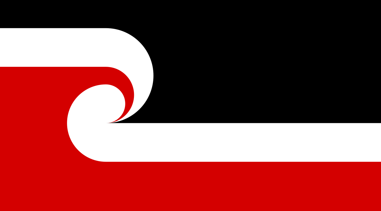 Rangatiratanga flag of the Maori sovereignty movement - recognized as the national Maori flag of NZ by NZ Cabinet in 2009