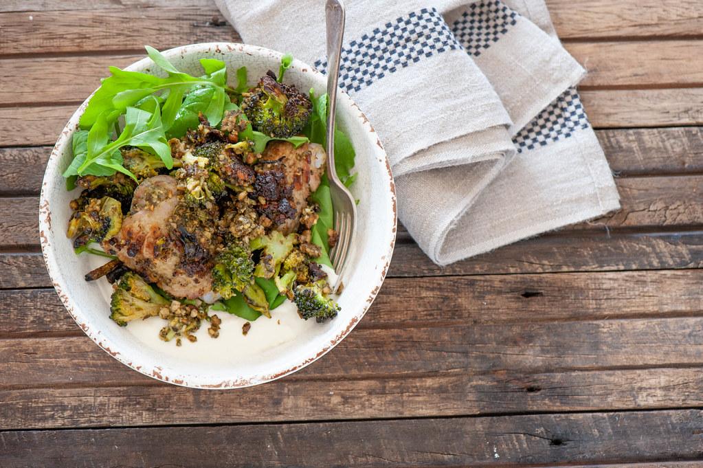 Roast Pesto Chicken & Broccoli