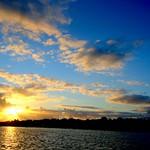 Setting Sun at Preston Docks