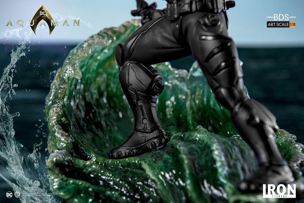 帶來巨大威脅的黑色身影! Iron Studios《水行俠》黑蝠鱝 Black Manta 1/10 比例決鬥場景雕像作品