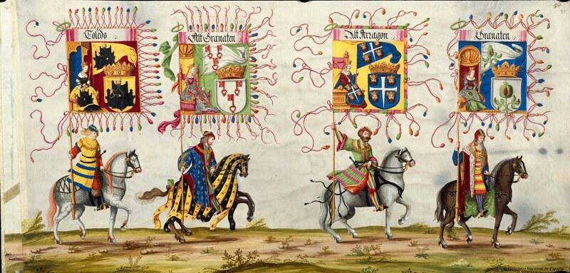 Triunfo del Emperador Maximiliano I, Rey de Hungría, Dalmacia y Croacia, Archiduque de Austria, XVI-XVII, f. 57, Biblioteca Nacional de España