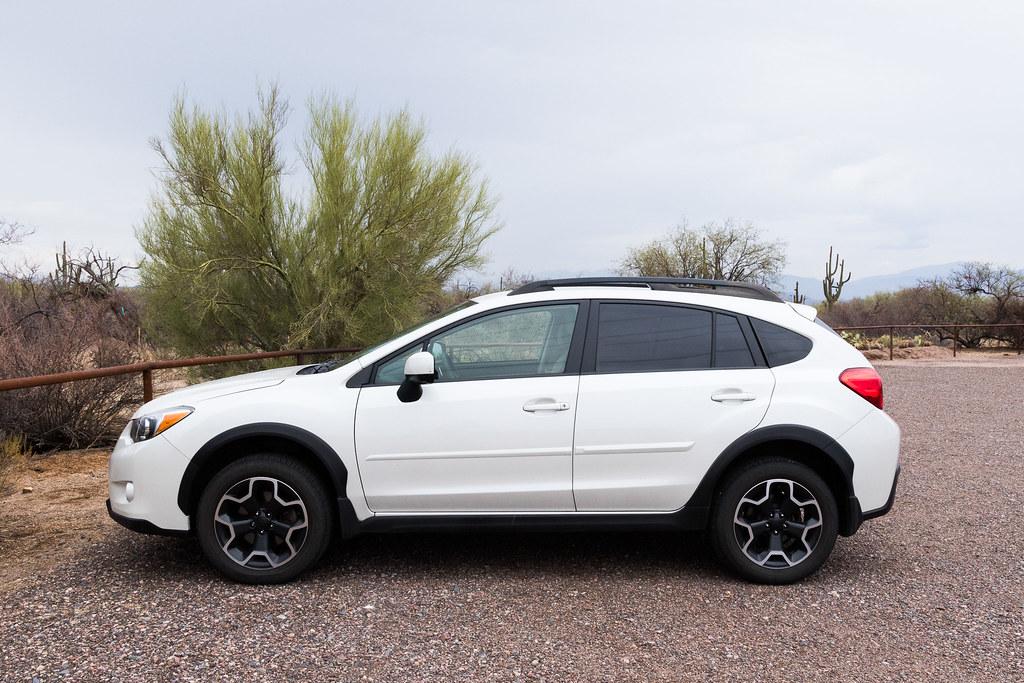 My 2013 Subaru XV Crosstrek Limited at the Granite Mountain Trailhead in McDowell Sonoran Preserve in Scottsdale, Arizona