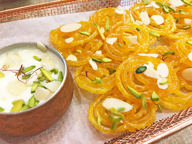 Jalebi with Rabri dip