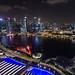 Singapore at Night, Marina Bay Hotel, Singapore
