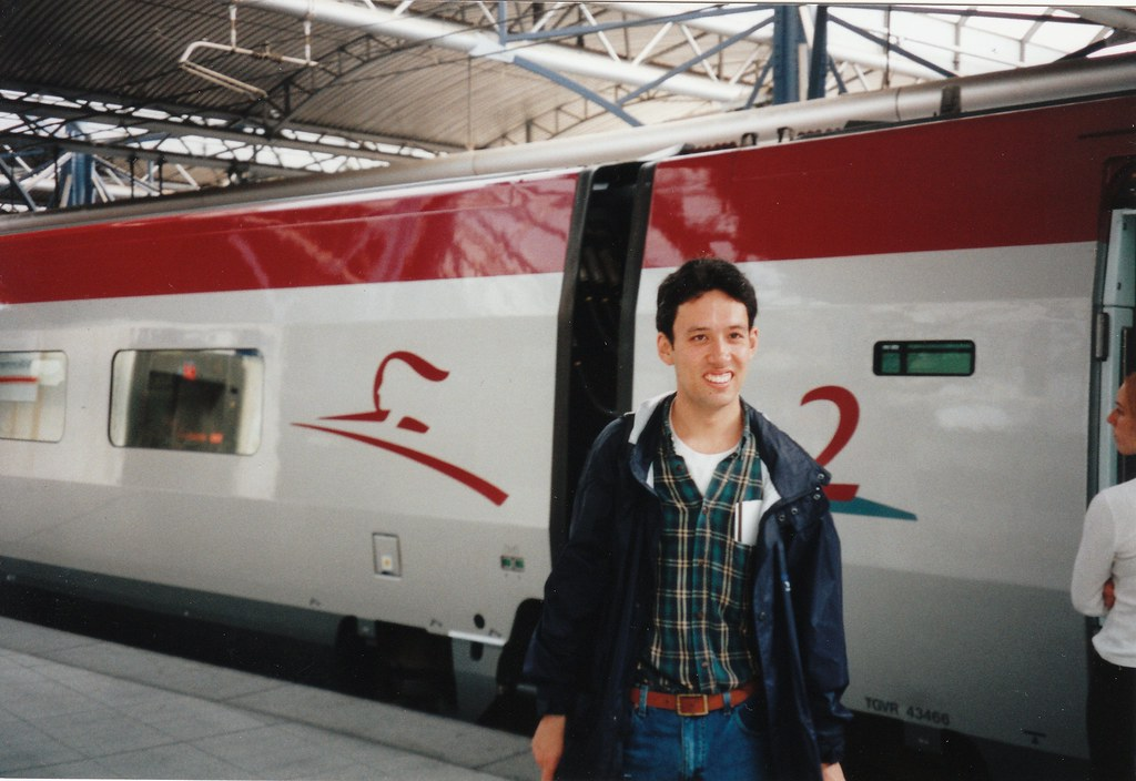 Boarding a Thalys train in Brussels, 16/9/1998