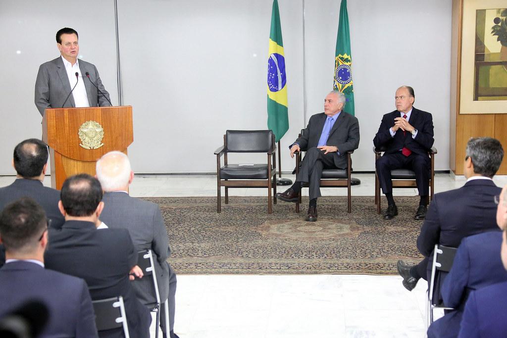 Ministro Gilberto Kassab participa de cerimônia de assinatura do Decreto de Radiodifusão. 22/08/2018. Brasília-DF.