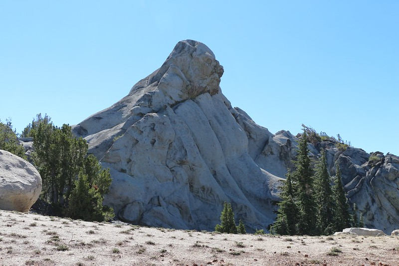 The granite summit block of Jakes Peak - that top part looks like Jake's Head