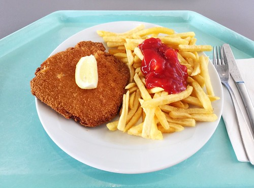 "Pork escalope vienna style with french fries / Schweineschnitzel ""Wiener Art"" mit Pommes Frites"