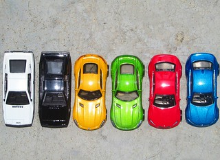 Cars On Zero Shadow Day