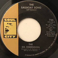 THE 5TH DIMENSION:STONED SOUL PICNIC(LABEL SIDE-B)