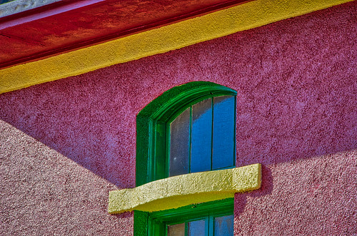 arizona bisbee californiacolonial spanishcolonia tombstonecanyon architecture buildings closeup colorful detail fenestration horizontal landscape miningarchitecture miningtown oldwest stucco windows unitedstates us