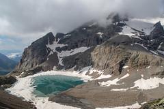 Vue sur le lac de l'Eychauda depuis le col des Grangettes (2684m)