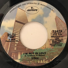 10CC:I'M NOT IN LOVE(LABEL SIDE-A)