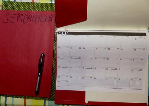September 2018 Diary