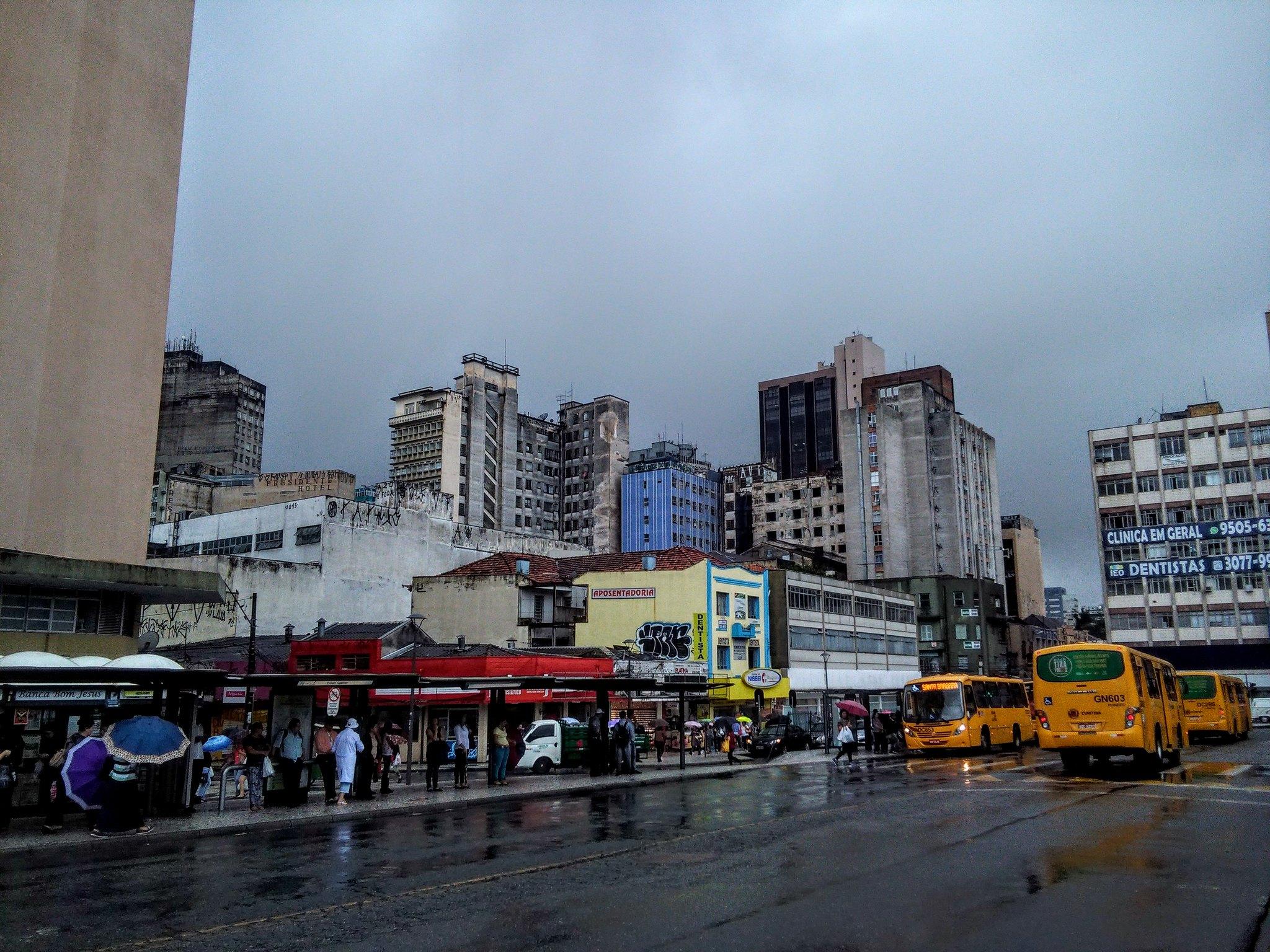 Curitiba in the rain