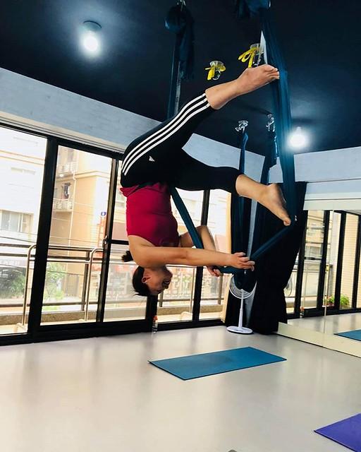 20180913 第650堂課 哈達瑜珈 第651堂課 空中瑜伽 #有運動沒在怕的 #運動使人開心 #40歲以後找回自己 #喜歡自己拍自己