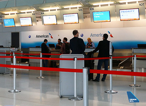 American Airlines priority check-in DFW (RD)