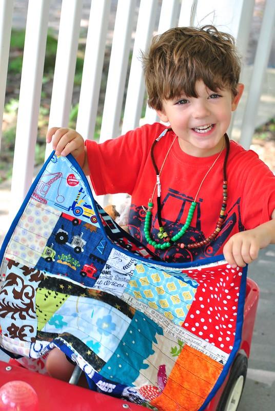 Elliot's first quilt